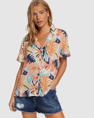 Roxy Womens Remind To Forget Short Sleeve Shirt