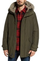 Woolrich Men's Polar Down Parka With Genuine Shearling Hood