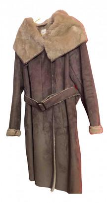MANGO Camel Faux fur Coats