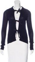 Prada Cashmere Bow-Accented Cardigan