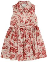 Gucci Sleeveless Printed Cotton Muslin Dress