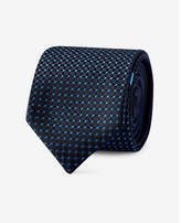 Express reversible slim silk tie