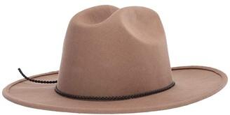 San Diego Hat Company WFH1763 Fedora w/ Braided Knot Trim (Camel) Caps
