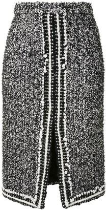 Giambattista Valli Knitted Pencil Skirt