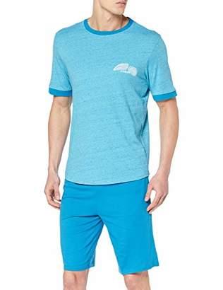 Athena Men's Original Pyjama Sets, Blue Mouline BAS Turquoise 3201, L (Sizes:4)
