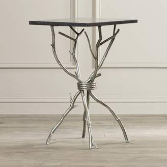 Callaway Willa Arlo Interiors End Table Willa Arlo Interiors Color: Black / Silver
