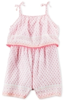 Carter's Mixed-Print Popover Romper, Baby Girls (0-24 months)