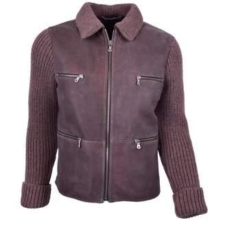 Dolce & Gabbana Purple Leather Jackets