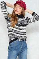 Nasty Gal nastygal Make Knit Happen Patterned Sweater