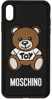 Moschino Black Teddy Bear iPhone XS Max Case
