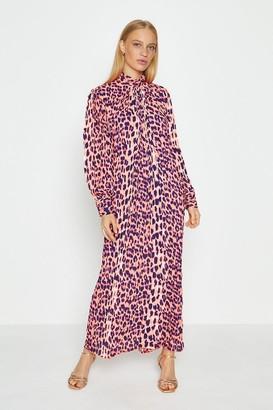 Coast Long Sleeve Animal Print Midi Dress