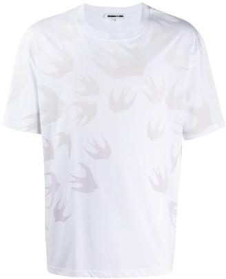 McQ swallow-print oversized T-shirt