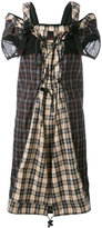 Maison Margiela backpack strap tartan dress - women - Cotton/Polyamide/Polyester/Polyurethane - 40