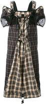Maison Margiela backpack strap tartan dress - women - Cotton/Polyamide/Polyester/Polyurethane - 40