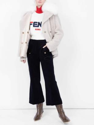Acne Studios cropped flared trousers
