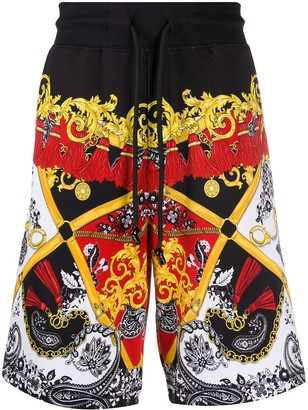 Versace Graphic Paisley Print Shorts