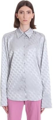 ATTICO Shirt In Grey Viscose