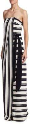 Halston Strapless Stripe Dress
