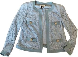 Edward Achour Blue Cotton Jacket for Women