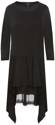 Nissa Lace Insert Asymmetrical Dress