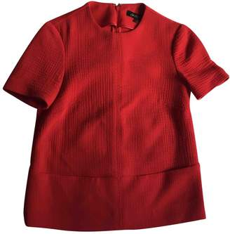 Jaeger Red Wool Top for Women