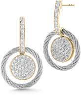 Alor Pave Diamond Cable Drop Earrings