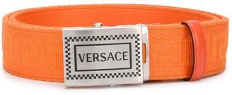 Versace Greca embossed buckle belt