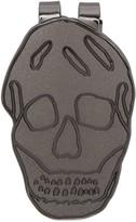 Alexander McQueen Gunmetal Skull Money Clip