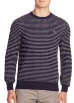 Lacoste Long Sleeve Patterned Sweater