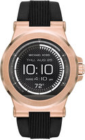 Michael Kors Access Unisex Digital Dylan Black Silicone Strap Smart Watch 46mm MKT5010