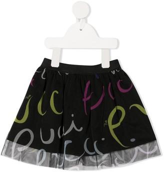 Emilio Pucci Junior Logo Print Tutu Skirt