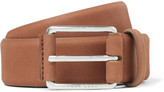 HUGO BOSS 3.5cm Tan Catios Nubuck Belt