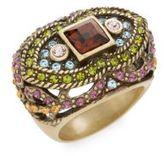 Heidi Daus Femme Fatale Swarovski Crystal & Multicolored Rhinestone Ring