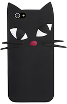 Lulu Guinness Kooky Cat iPhone Case, Black
