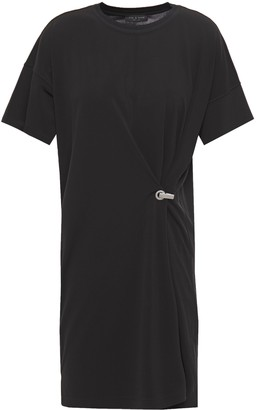 Rag & Bone Embellished Draped Jersey Mini Dress