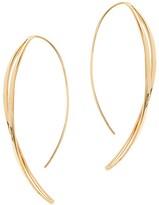 Lana 14K Yellow Gold Twist Hook On Hoop Earrings
