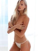Cotton Lingerie Lace-back String Bikini Panty