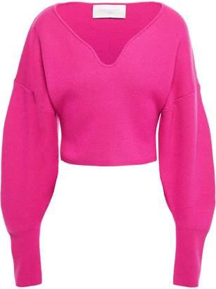 Esteban Cortazar Cropped Brushed Wool-blend Sweater