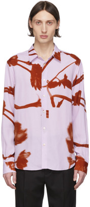 Paul Smith Pink and Red Floral Slim Shirt