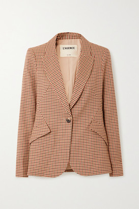 L'Agence Chamberlain Houndstooth Tweed Blazer