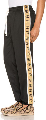 Gucci Loose Technical Jersey Jogging Pant in Black & Multi | FWRD