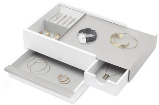 Umbra Stowit Jewellery Box - White Nickel