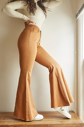 We The Free CRVY Super High-Rise Lace-Up Flare Jeans