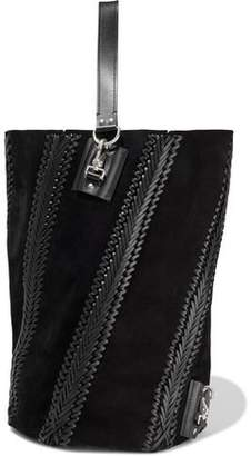 Proenza Schouler Leather-trimmed Suede Tote