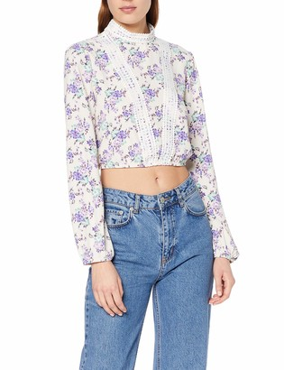 Glamorous Women's Spring Floral LACE Detail Blouse