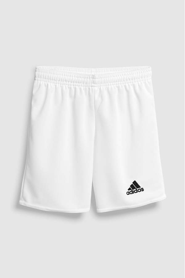 adidas Junior Boys RMCF Real Madrid Third Football Shorts Petrol NightSolid GreyWhite