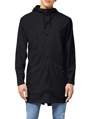 Rains Men's Waterproof Long Jacket,Size: XX X-Small