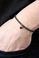 Chibi Jewels Midnight Cord Bracelet with Black Garnet Gemstone