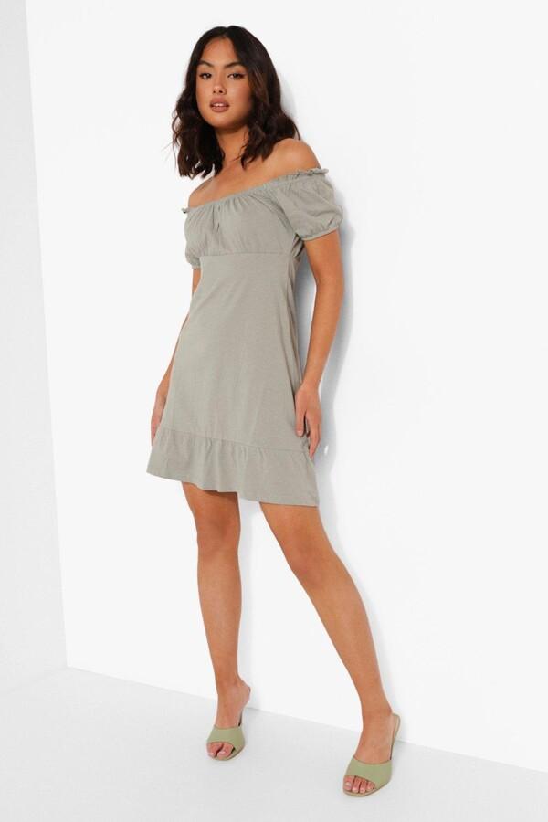 Thumbnail for your product : boohoo Frill Hem Mini Dress
