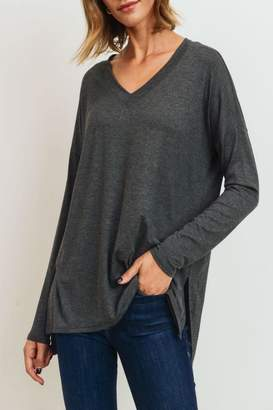 Cherish V-Neck Relaxed Top